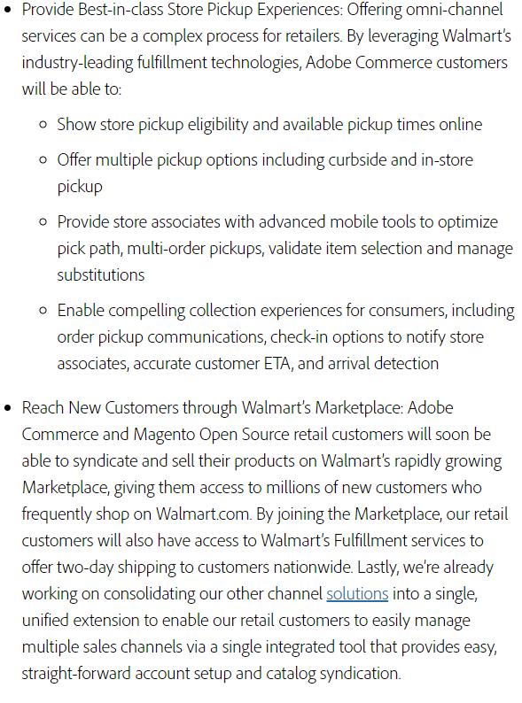Adobe Commerce Magento Open Source Walmart Solutions
