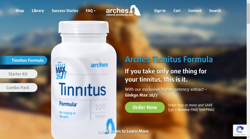 TinnitusFormula WordPress BigCommerce Headless Commerce Site Example