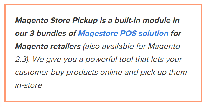 Magestore Magento 2 Store Pickup part of Magestore POS